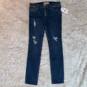 FREE PEOPLE DESTRUCTED DESTROYED SKINNY JEANS